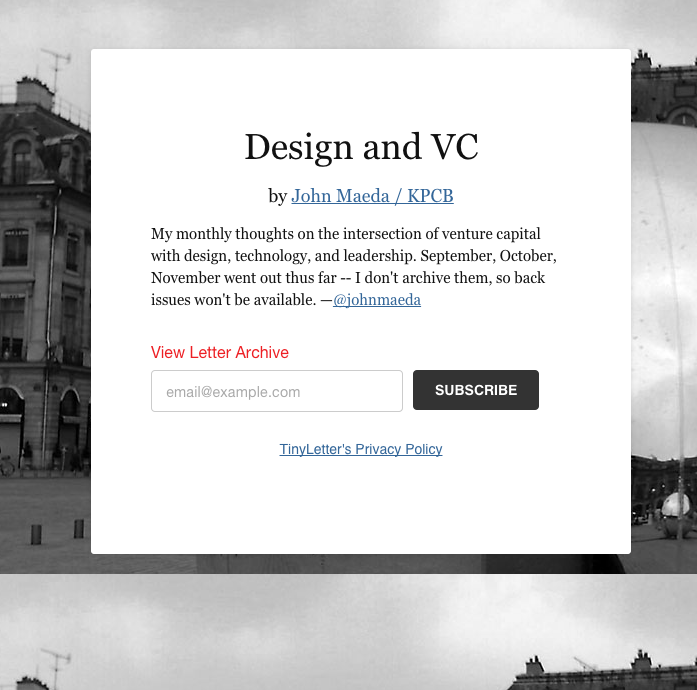 Design and VC