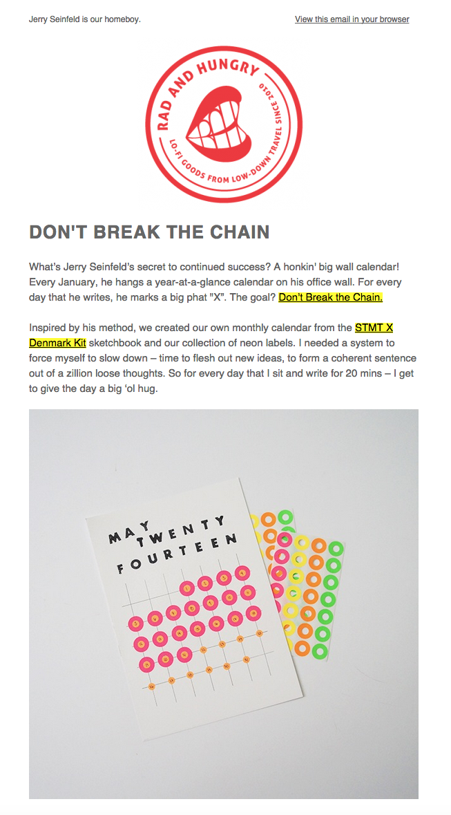 Out of the Ordinary Emails | CreativeMornings