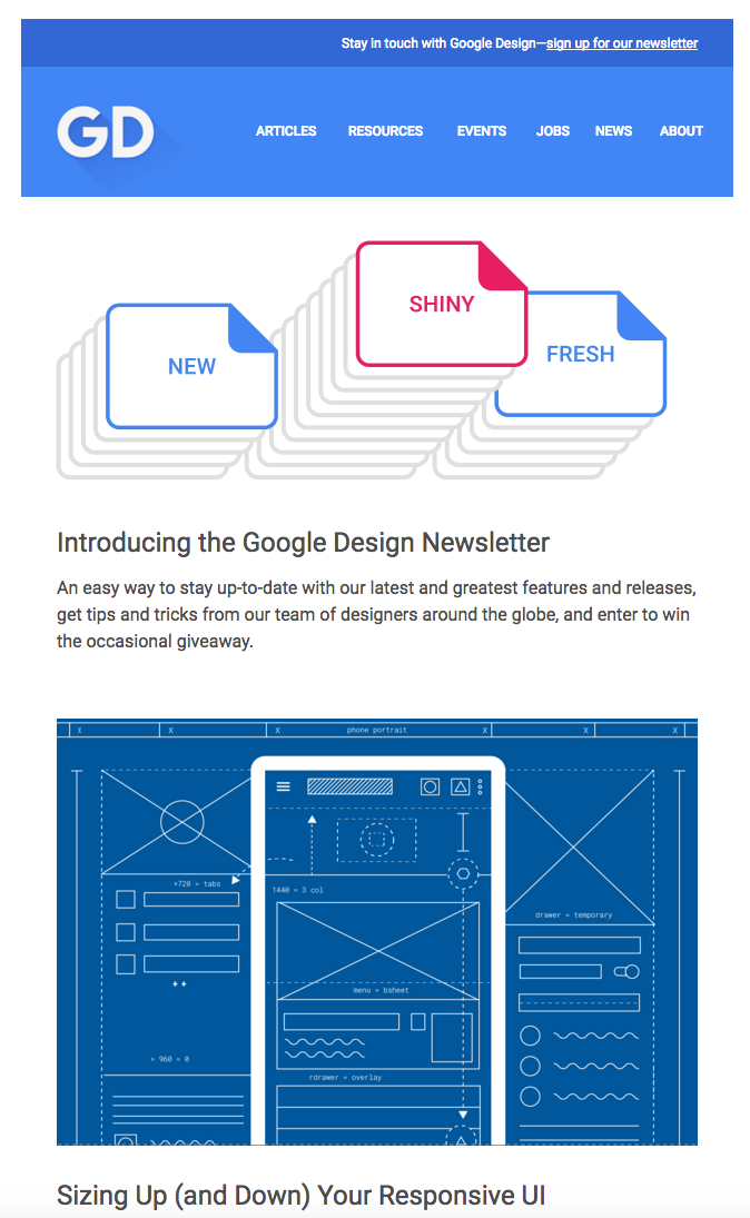 Google Design Newsletter